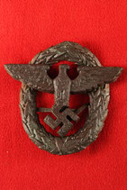 Original WW2 German POLICE cap badge #3