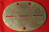 Original WWII German ID disc - Dog Tag #4