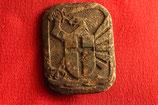 Original WWII Wehrmacht 121 Division cap badge #1