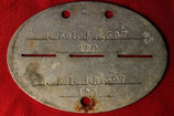 Original WWII German ID disc - Dog Tag #3
