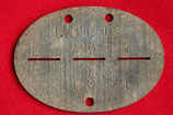 Original WWII German ID disc - Dog Tag #7