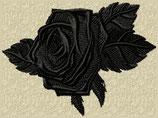 """Rose """"gothic"""" schwarz"""