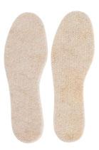 Alpaka Thermosohlen gummiert , Schuheinlagen/Einlegesohlen