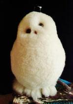 癒しのフクロウ抱っこ型白大①