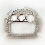 G-SHOCK ジーショック カスタム パーツ メンズ 腕時計 DW-6900 カスタムベゼル おしゃれ 芸能人 ブランド 人気 シルバー 大人っぽい CROWNCROWN parts-045