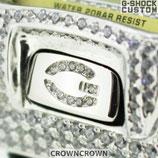 G-SHOCK ジーショック カスタム パーツ メンズ 腕時計 DW-6900 カスタムベゼル おしゃれ 芸能人 ブランド 人気 シルバー ゴージャス CROWNCROWN parts-020