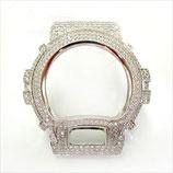 G-SHOCK ジーショック カスタム パーツ メンズ 腕時計 DW-6900 カスタムベゼル おしゃれ 芸能人 ブランド 人気 シルバー 大人っぽい CROWNCROWN parts-047