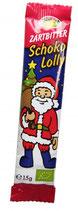 Weihnachtsmann Zartbitter Lolly (Rosengarten)