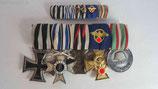 Ordensspange - 5er mit Polizei Dienstauszeichnung 25 Jahre