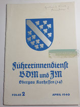 Heft - Führerinnendienst BDM und JM Folge 2 April 1940