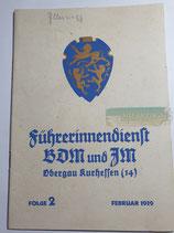 Heft - Führerinnendienst BDM und JM Folge 2 Februar 1939