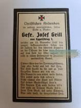 Sterbebild - Gefreiter Grill