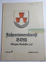Heft - Führerinnendienst BDM und JM Folge 3 März 1941