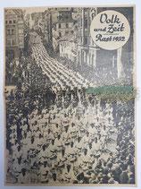 """Zeitung - Volk und Zeit """"Rast 1932"""""""