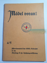 Heft - Mädel voran 4/5 Jesberg Gau Kurhessen-Süd