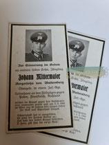 Sterbebild - Obergefreiter Inf. Regiment