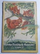 """Kalender - """"Reichstierschutzkalender"""" 1940"""
