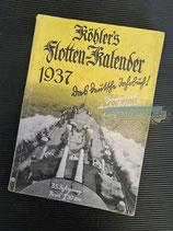 "Kalender - ""Köhler`s Flotten-Kalender"" 1937"