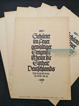 Wochenspruch der NSDAP - 7. bis 13. Juli 1940