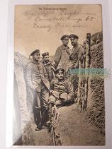 Feldpostkarte - Im Schützengraben