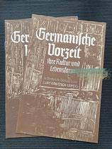 """Prospekt - Curt Käbitzsch Verlag """"Germanische Vorzeit"""""""