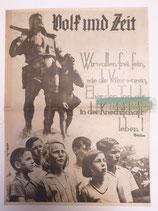 """Zeitung - Volk und Zeit """"Wir wollen frei sein, wie die Väter waren, eher den Tod, als in der Knechtschaft leben"""""""