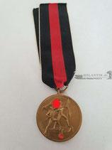 Medaille - 1. Oktober 1938 mit Bandabschnitt (3)