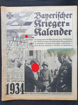 "Kalender - ""Bayerischer Kriegerkalender"" 1934"