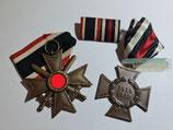 Set Kriegsverdienstkreuz mit Schwerter 2. Klasse & Ehrenkreuz für Nichtkämpfer 1914-1918