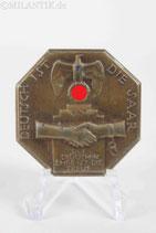 Treffabzeichen - Deutsch ist die Saar 1934