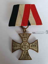 Patriotisches Kreuz - Mit Gott für König und Vaterland