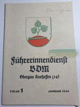 Heft - Führerinnendienst BDM und JM Folge 1 Januar 1941