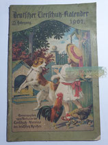 """Kalender - """"Deutscher Tierschutzkalender"""" 1907"""