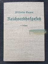 Buch - Das Reichserbhofgesetz