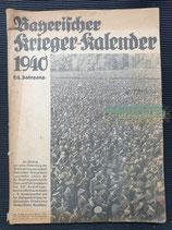 "Kalender - ""Bayerischer Kriegerkalender"" 1940"