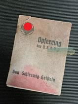 Mitgliedsbuch - Opferring der NSDAP