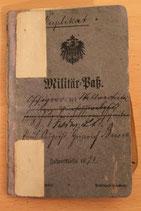 Militär-Paß Feldwebel-Leutnant Busse