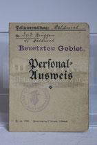 Personal Ausweis - Besetztes Gebiet Ober-Landjäger