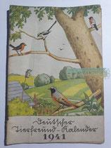 """Kalender - """"Deutscher Tierfreund Kalender"""" 1941"""