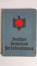 Mitgliedsbuch - Deutscher Reichsbund für Leibesübungen
