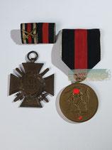 Set - Medaille 1. Oktober 1938 & Kriegsteilnehmerkreuz 1914-1918