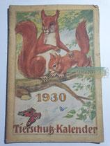 """Kalender - """"Tierschutzkalender"""" 1930"""
