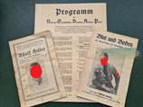 Programm der NSDAP und zwei Schriften zu Adolf Hitler