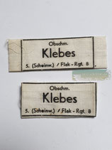 Set Uniform Etiketten - Obschm. Klebes