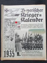 "Kalender - ""Bayerischer Kriegerkalender"" 1935"