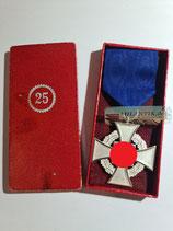 Treuedienst Ehrenzeichen - Einzelspange 25 Jahre im Etui