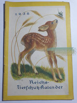 """Kalender - """"Reichstierschutzkalender"""" 1938"""