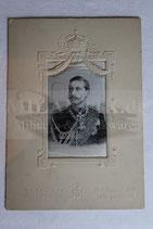 Patriotische Abbildung Wilhelm II auf Seidenstoff