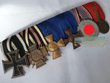Ordensspange - 6er mit Luftschutz Medaille
