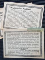 """Flyer - Sammlung """"Volksopfer"""" 1945"""